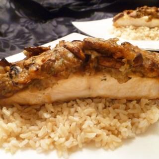 Mushroom Smothered Salmon