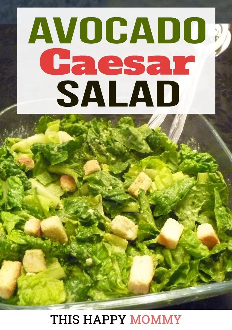 Wow, my family loves this salad! If you love creamy salads, Avocado Caesar Salad is rich, creamy, and healthy too! That's right, it's made without oil, fat, or cheese, instead, it's packed with healthy avocados. You can enjoy this salad with fish, chicken, or even steak. The possibilities are endless! Healthy Clean Eating Salad Recipes | Healthy Salad Bowl Dinners | Healthy Homemade Salad Dressing | Healthy Low Calorie Soup Recipes | #recipes #salad #appetizer #dinner #healthyrecipe | thishappymommy.com