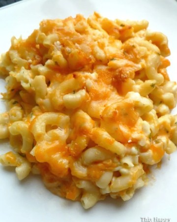 Lighter Baked Macaroni and Cheese