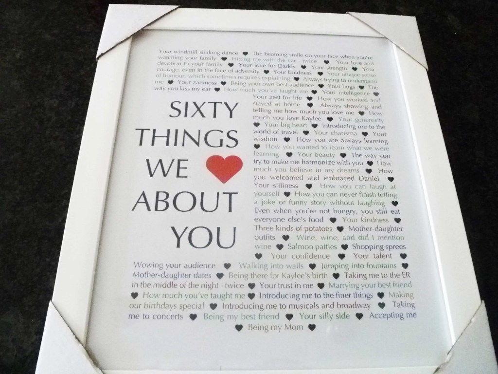 60 Things We About You The Perfect Homemade 60th Birthday Gift