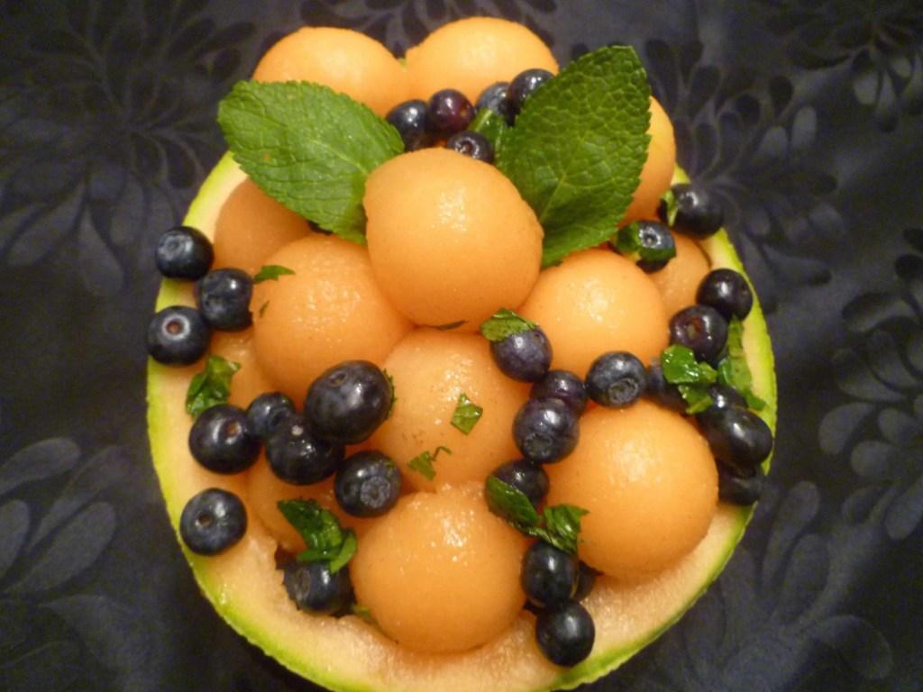 Blueberry Cantaloupe Salad