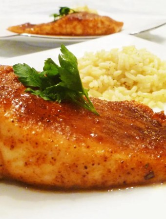 Sweet BBQ Rubbed Salmon