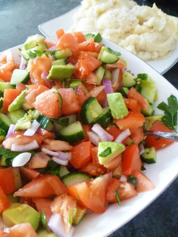 Avocado Mediterranean Salad