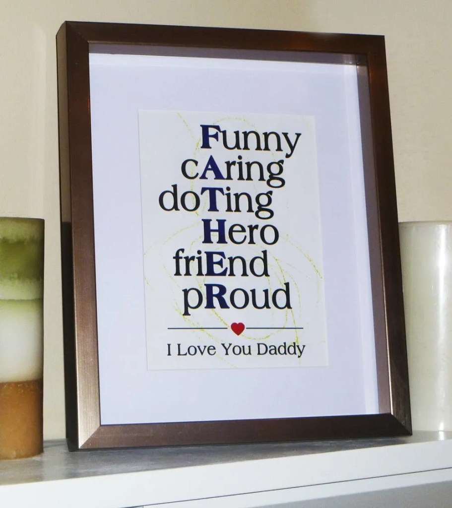 I Love You Daddy Wall Art
