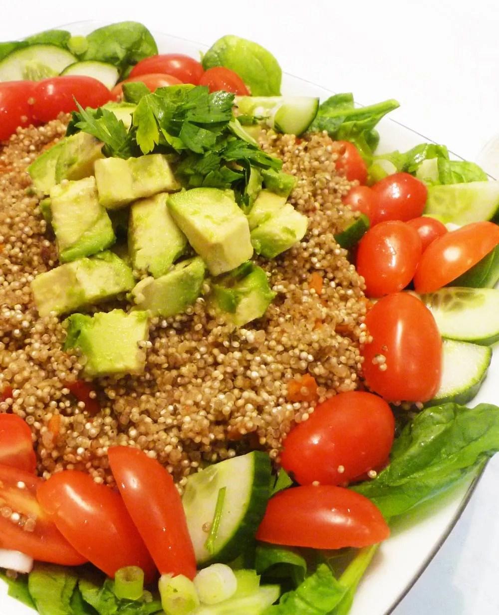 Warm Avocado Quinoa Salad - This Happy Mommy