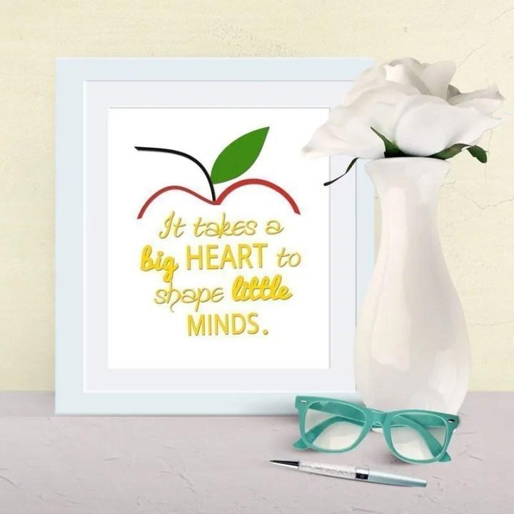 Big Heart Teacher Gift
