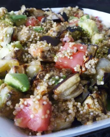 roasted eggplant quinoa