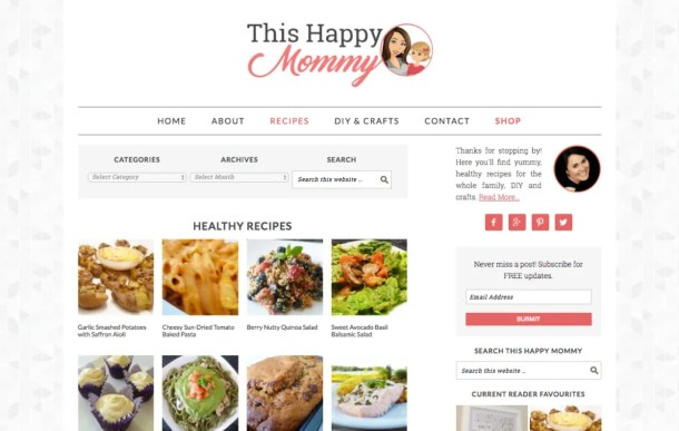 A Fresh, New Look - This Happy Mommy Website