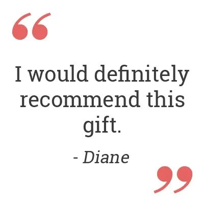 I would definitely recommend this gift. - Diane