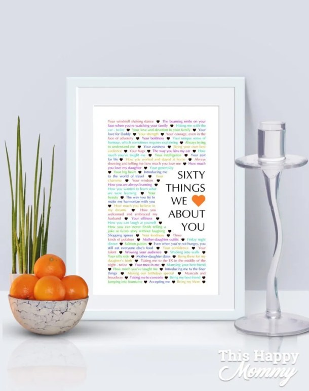 60 Things We {Love} About You - Curved Edition