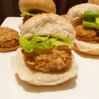 Salmon Pattie Sliders