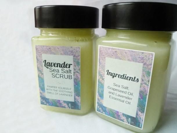 Lavender Sea Salt Scrub