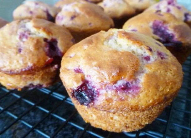 Raspberry Muffins -- Each bite of these tasty muffins bursts with raspberry, lemon, and vanilla flavour. | thishappymommy.com
