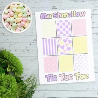 Marshmallow Tic Tac Toe