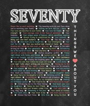 70 Things We {Love} About You - Chalkboard Edition