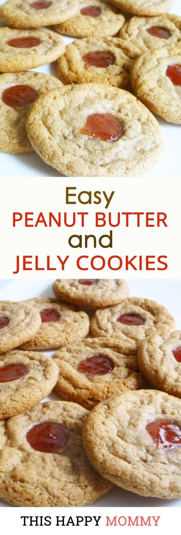 Easy Peanut Butter and Jelly Cookies -- With a pop of peanut butter and jelly flavour, these quick and easy cookies are ready in only 15 minutes. | | Healthy Cookie Dessert Recipes | Easy to Make Sweet Treat Desserts | Easy Healthy Cookie Dessert Recipe | Simple and Light Dessert | #dessert #cookie #diy #recipes #healthyrecipes | thishappymommy.com