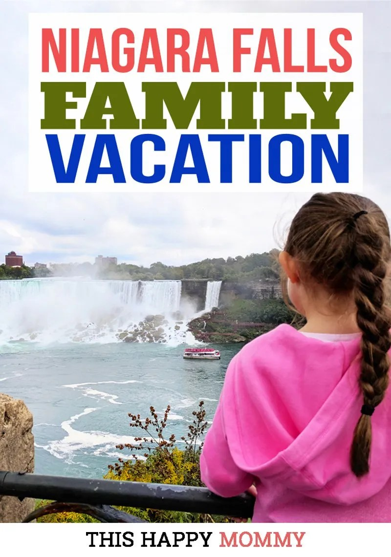 Niagara Falls Family Vacation -- Niagara Falls, it is truly a sight to see. With rolling water, a misty spray, and three different falls on the Canadian and US side, Niagara Falls is truly beautiful. People from all over the world flock to the falls for fun, romantic, and family-friendly vacations. For our first getaway as a family of four, we decided to go somewhere beautiful, romantic, and family friendly. So, we went on a Niagara Falls family vacation. #vacation #getaway #niagarafalls #familyvacation #familyholiday | thishappymommy.com