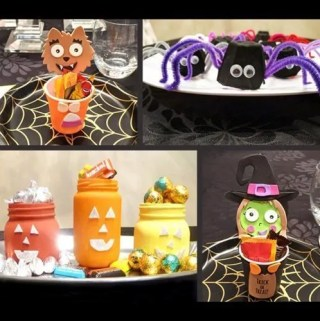 Halloween is almost here! Celebrate all the fun with some easy crafts. Spooktacular Halloween Crafts for the Family are some of our favourite Halloween crafts that you can enjoy with your family. | simple kids craft gifts ideas | easy DIY kids crafts ideas | easy kids crafts for boys and girls | Halloween crafts | DIY halloween decor | #halloween #crafts #diyhalloween #diy #howto | thishappymommy.com