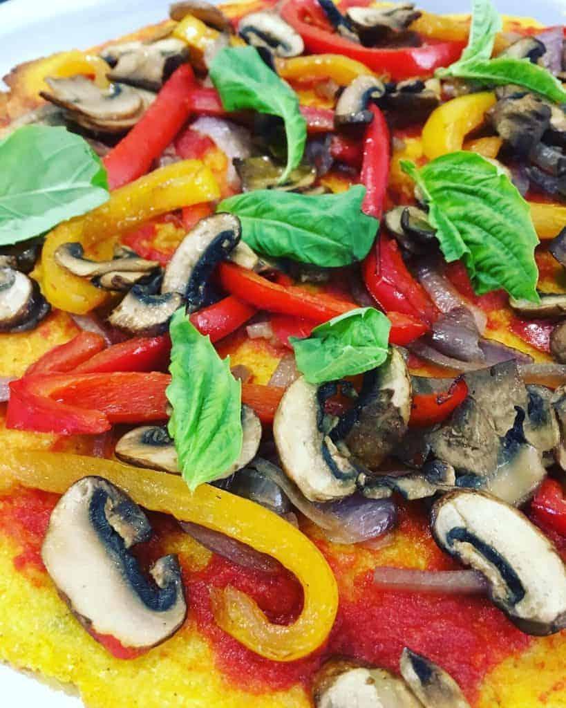 Polenta Pizza - Vegan & Gluten Free