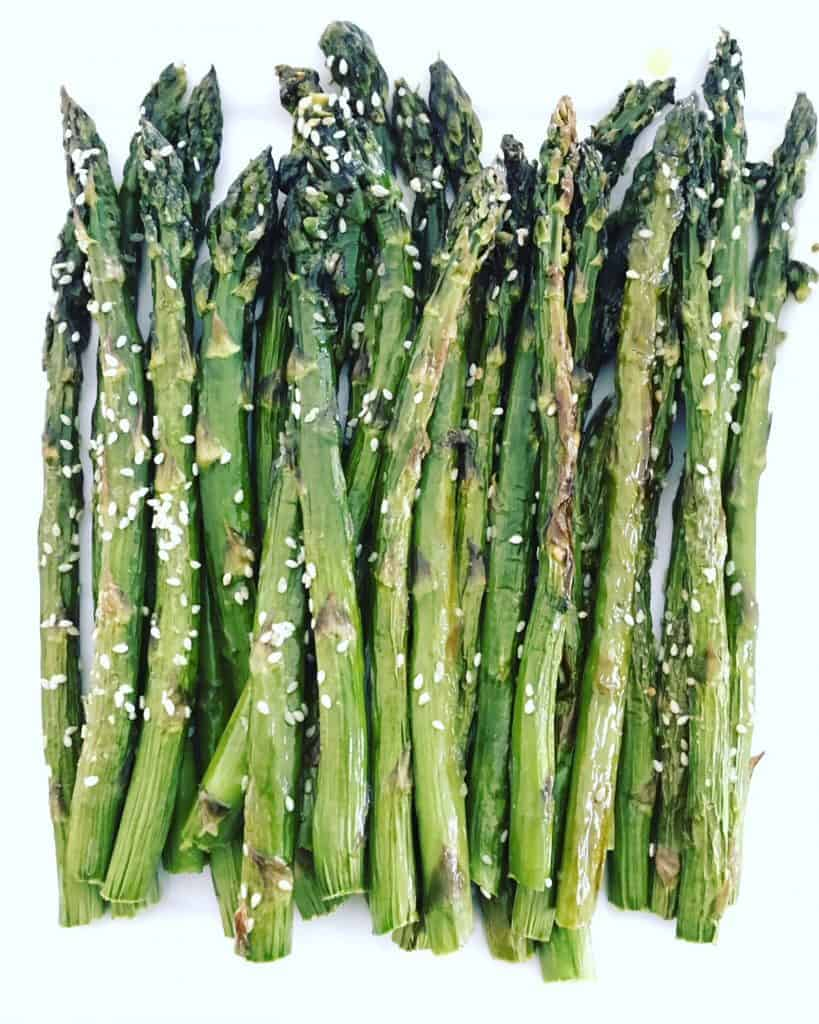 Sesame Roasted Asparagus in 10 Minutes!