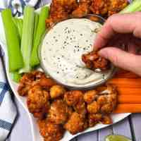 Cauliflower Buffalo Wings [Vegan + GF + Oil Free] - Air Fryer Option