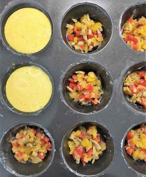 eggless muffin cups prep