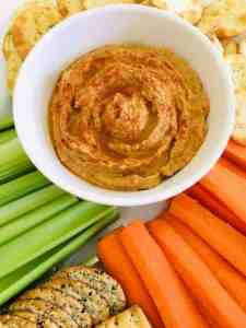 Peanut Butter Hummus with veggie sticks
