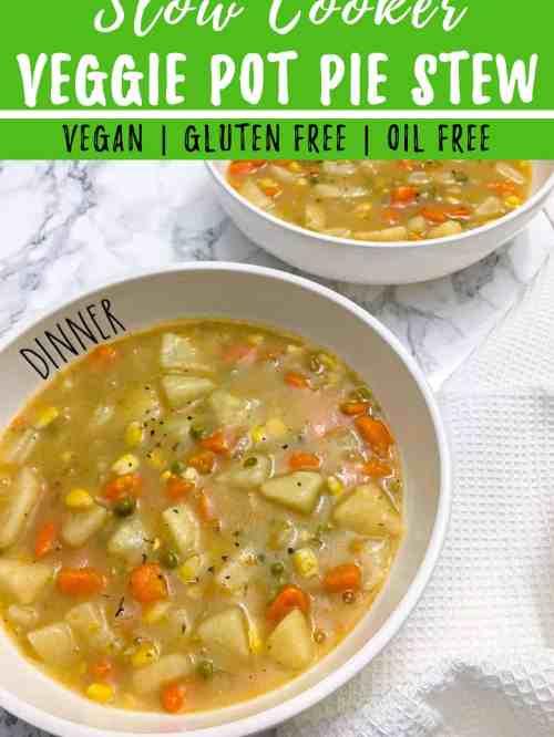 veggie pot pie stew with spoon