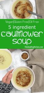 creamy cauliflower soup pin