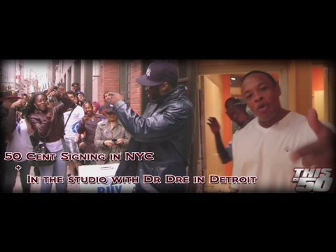 50 Cent Signing In NYC + Studio with Dr Dre & Eminem   50 Cent Music
