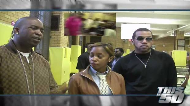 Tony Yayo and Lloyd Banks @P.S. 48 in Queens and Give Free School Supplies | 50 Cent