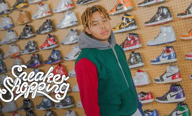7677f4090d7354 Sneakers. YBN Cordae Goes Sneaker Shopping With Complex