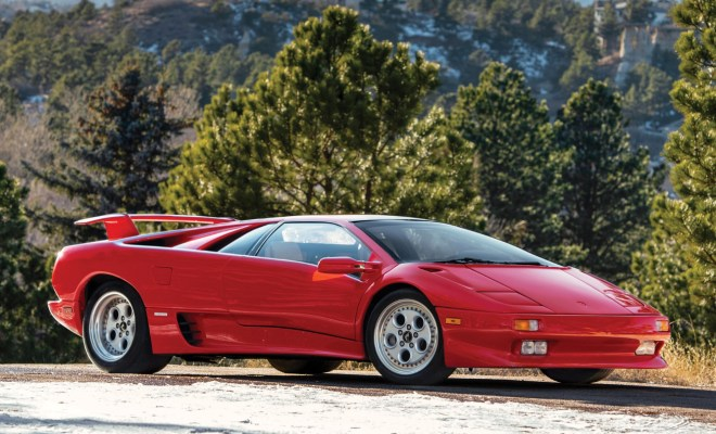 This 1991 Lamborghini Diablo Owned By Racing Legend Mario Andretti