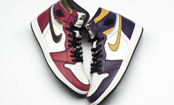 "01bb6482c5d Nike reveals color changing Air Jordan 1 OG x Nike SB ""Bulls vs. Lakers"""
