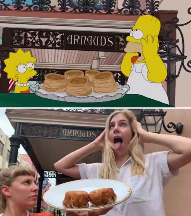 Two Swiss tourists recreating 'The Simpsons' montage 'Homer Eats His Way Through New Orleans' is the greatest use of free time you will see today