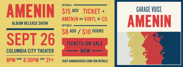 Garage Voice AMENIN Album Release