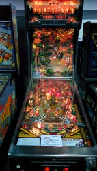 Hot pinball on pinball action.