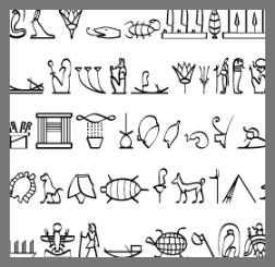 Ancient hieroglypics