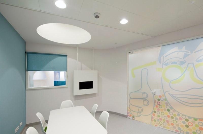 Impressions of the Children's Eye Center at Rotterdam Eye Hospital (Oogziekenhuis Rotterdam). Photo: Eklund Terbeek architecten