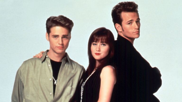 Jason Priestley, Shannen Doherty and Luke Perry shot to fame in the 1990s teen drama