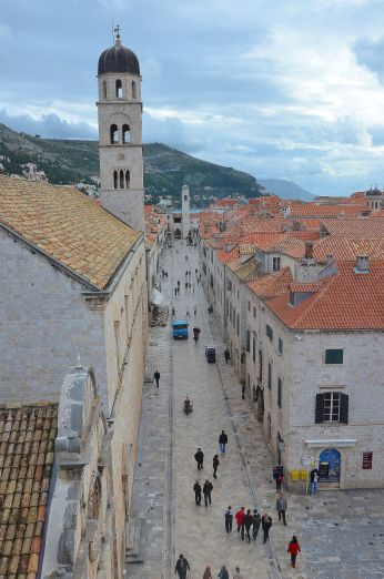 Stradun or Placa is the main street of Dubrovnik, Croatia. These limestone-paved pedestrian street witnessed the courages of its people in defending Dubrovnik from Serbs during the 1990's Balkan Wars,