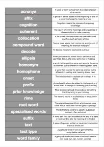 Literacy Word Match