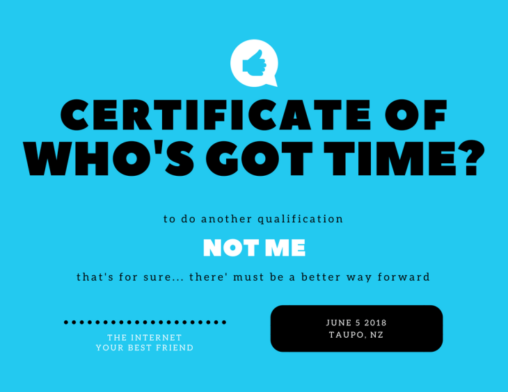 Certificate of who's got time_