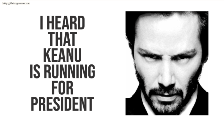 New Zealand NZ Keanu Reeves Kanye West President