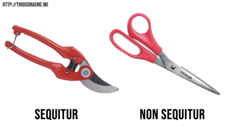 one of these is a massive and misleading non secateur. You say sequitur I say non sequitur