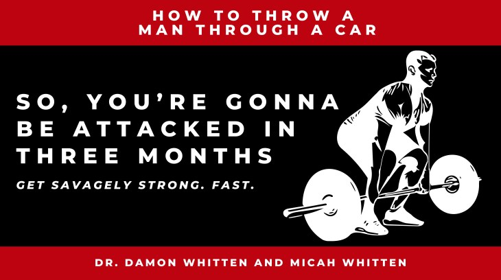 So, You're Gonna Be Attacked In Three Months: How To Throw a man through a car. By Damon Whitten. PhD. Dr Damon Whitten, maths and numeracy expert.