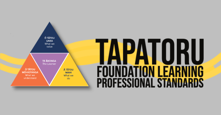 Tapatoru - The Foundation Learning Professional Standards Framework
