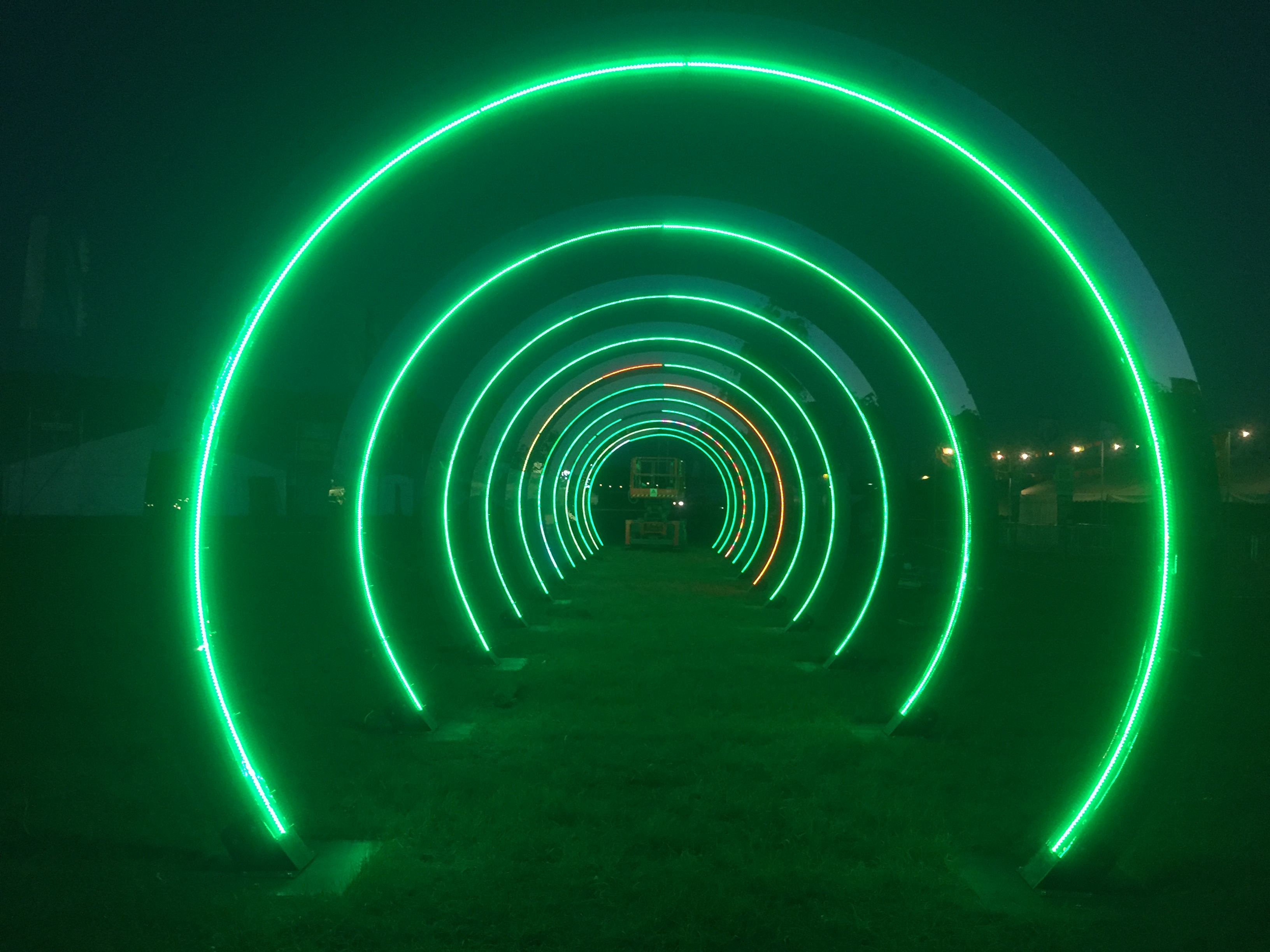 LED, light tunnel, Light Sculpture, LED Mapping, Loops.