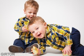 Easton and Lucas for Easter by Tim Girton