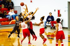 Butler Girls basketball with Kira Girton by Tim Girton
